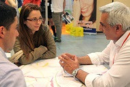 Entrepreneurs meeting each other at QUiCKFairs exhibition